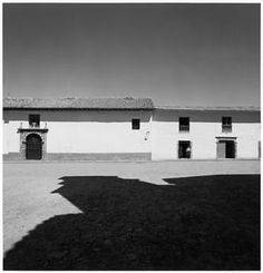 Harry Callahan [Shadowed Plaza with Men in Doorway of Stone Building, Possibly…