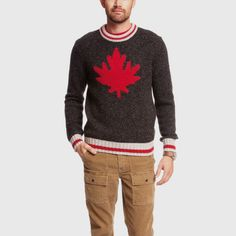 New Maple Cabin Crew Sweater | Men's Tops Sweaters and Cardigans | Roots