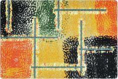 DECO-MAT │ HERBST / ROT-ORANGE │ Rutschfeste Fussmatte / Türmatte 40 x 60 cm ohne Rand für den Innenbereich… Designer, Orange, Painting, Entrance, Fall, Red, Painting Art, Paintings, Painted Canvas