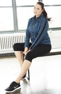 Zella 'Streamline Cross Dye' Jacket (Plus Size)