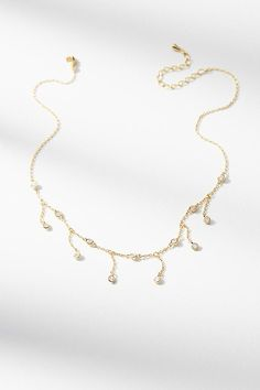 Slide View: 2: Dew Drop Choker Necklace