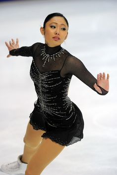 Miki Ando Black Coral Skating / Ice Skating dress inspiration for Sk8 Gr8 Designs.