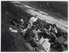 Photograph of a Bloomsbury Group picnic at High and Over, Sussex © Tate Lifestyle and Legacy of the Bloomsbury Group Virginia Woolf, Angelica Bell, Clive Bell, Dora Carrington, Leonard Woolf, Maynard Keynes, Duncan Grant, Vanessa Bell, Bell Art