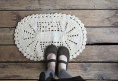 Vintage Cotton Crochet Rug