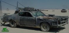 Vector Mad Maxed Post Apocalyptic Wasteland Road Warrior - Post Apocalyptic Road Warrior covered with steel mesh