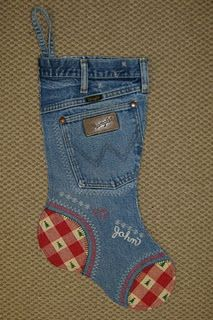 Recycled jeans; too cute