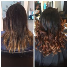 Before and after ombré with a nice olaplex treatment. Love this stuff! #ombré #balayage #hairpainting #natural #colormelt #colorcorrection #blowout #curls #loreal #schwarzkopf #olaplex #healthyhair #haircolor #colorist #statenisland #newyork #nyc #newyorkcity #statenislandsalon #heatherssalon72