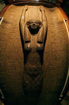 Sky goddess Nut on sarcophagus of Pharaoh Merneptah, Ramses II's son, Egyptian Museum, Cairo: