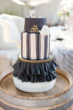 Black, White and Gold! It mixes the sartorial styling of Great Gatsby era chic with whimsical circus elements for the perfect blend of sophisticated-meets-funky!
