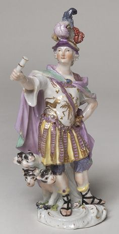 "Figurin ""Grekland"", 1750 - 1755, Johann Joachim Kändler, German, born 1706, dead 1775 Manufacturer: Porzellan-Manufaktur Meissen, Meissen, Germany"