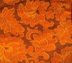 Items similar to Vintage orange fabric on Etsy