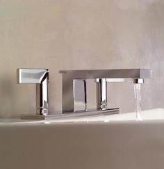 Newport Brass carries the Metro 2540 Widespread Lavatory Faucet and is available in a number of different finishes. Brass Bathroom, Master Bathroom, Victoria And Albert Baths, Watermark Design, Newport Brass, Lavatory Faucet, Plumbing Fixtures, Amazing Bathrooms, Kitchen And Bath