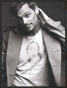 Reasons To Love Matthew Gray Gubler #2: He can wear a shirt with his own face on it under a suit jacket and still look good.