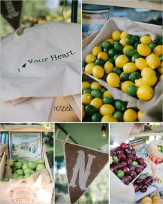 fruit stand wedding favors