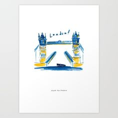 Buy London Bridge Art Print by PearTeaPaperie. Worldwide shipping available at Society6.com. Just one of millions of high quality products available.