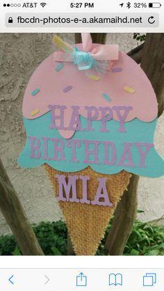 Ice Cream Centerpiece Set Party Decorations Sweet Shop Birt