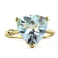 Alex Monroe   Goldcrest Fine Jewellery   Aquamarine Forest Jewel Ring