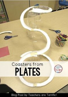 STEM Challenge: Make a marble run coaster using paper plates! Check this blog post for more!
