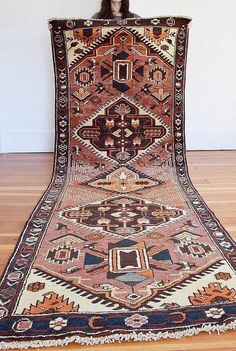 Handmade Vintage Pictorial Wool Runner Products Hot Sale 3x7ft Antiques