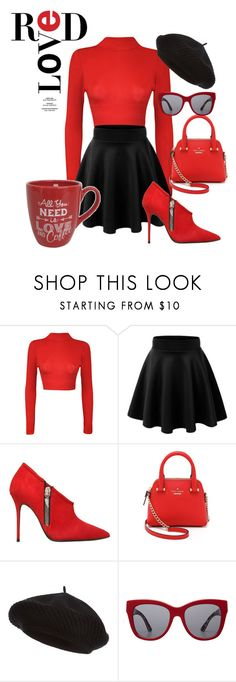 """""""One Month to Valentines!!!"""" by briannaandrews500 ❤ liked on Polyvore featuring WearAll, Giuseppe Zanotti, Kate Spade, Harrods and Dolce&Gabbana"""
