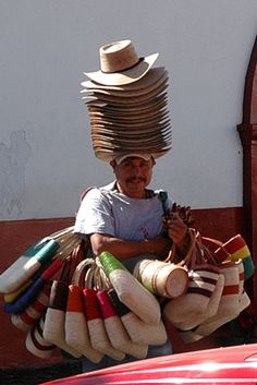Artesanos working hard to sell their handmade wares - Mexico