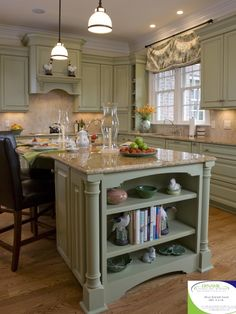 Furniture Style Island Colonial Kitchenkitchen Cabinetryfurniture