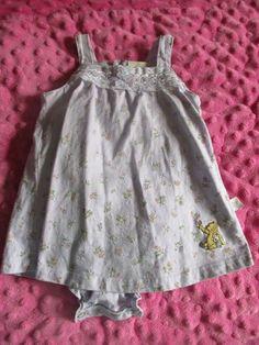 f05814edf VGUC 3M Disney Store Classic Pooh Lilac Floral Dress/BodySuit -SO CUTE! #