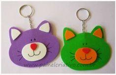 modelo chaveiro em eva ursinho e gatinho (2)