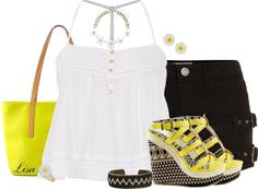 """""""Ginny Daffodil Wedges"""" by lmm2nd on Polyvore"""