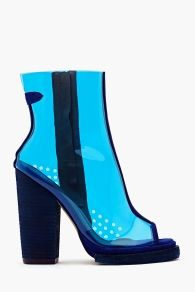 Ondine Clear Bootie - Blue Jeffrey Campbell Shoes. Delicious.. like a Blue Heaven drink :)