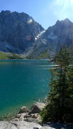 ~ beautiful setting for our tiny home: colchuck lake and dragontail peak near enchantment lakes, leavenworth, washington Oh The Places You'll Go, Places To Travel, Places To Visit, Beautiful World, Beautiful Places, Evergreen State, Destinations, All Nature, Jolie Photo
