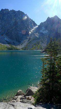 Colchuck Lake (and dragontail peak) Near Enchantment Lakes, Leavenworth, WA