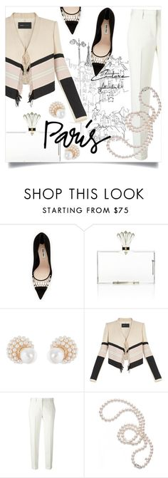 """Paris"" by addorajako ❤ liked on Polyvore featuring Miu Miu, Charlotte Olympia, Kenneth Jay Lane, BCBGMAXAZRIA, Ermanno Scervino, Mikimoto and fallgetaway"