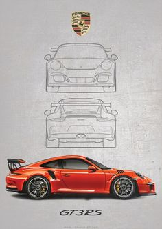 Porsche 911 RS Poster Print - Image of Porsche 911 RS Poster Print Best Picture For car diy For Your Taste You are looking - Porsche 911 Gt3, Porsche Carrera Gt, Porsche Logo, Porsche Boxter, Carros Porsche, Porsche 550 Spyder, Porsche Cayman Gt4, Porsche Cars, Singer Porsche