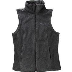 Columbia Benton Springs Vest Womens WL1023-010 Black Fleece Vest Wmns Size S