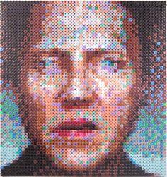 Christopher-Walken-Perler Portrait