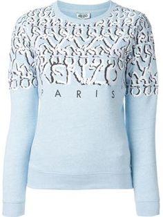 curvy lines Kenzo Paris sweatshirt $437 #farfetch #style #WomensClothing