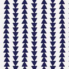 Windsor Navy Arrow Stripe Organic Fabric By The Yard