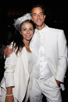 Sandy Safi international organiser and Aymeric Pasquier son of the founder of Diner en Blanc