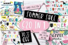 520 IN 1 BEST SUMMER BUNDLE - 70%OF… by lokko studio on @creativemarket