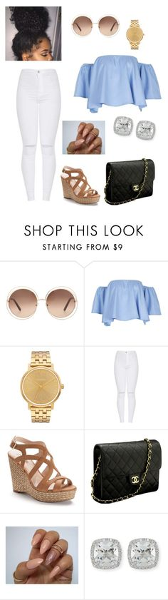 """""""Day Out"""" by jaeejaee-capri ❤ liked on Polyvore featuring Chloé, Nixon, Jennifer Lopez, Chanel and Frederic Sage"""