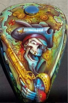 airbrushed skull pirate