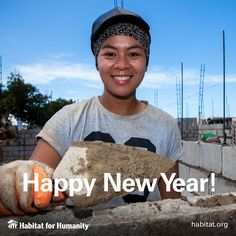 Happy New Year! Thank you for a great 2015 and we look forward to working with you in 2016 to make sure has a decent place to call home. Habitat For Humanity, Affordable Housing, Helping People, Happy New Year, Habitats, Restoration, How To Make, Happy New Years Eve