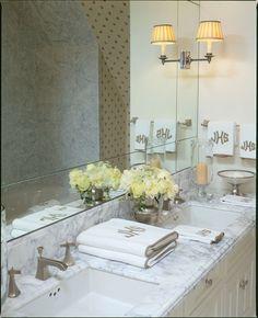 Lovely bathroom design by Cathy Kincaid Interiors