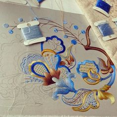 Jacobin embroidery ready! :))Russian blog, colour changed from original but I like it better