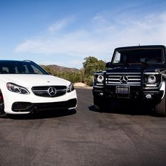 Tag someone you want to go driving with.  #MBPhotoCredit @fjmercedes  #Mercedes #Benz #EClass #E63 #AMG #GClass #GWagen #G550 #SUV #4MATIC #carsofinstagram #germancars #luxury