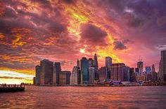 sunset in the Big Apple !!