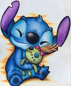 disney art Stitch Wie ein Stbern in ei - art Stitch Disney, Lilo Ve Stitch, Cute Disney Wallpaper, Cute Cartoon Wallpapers, Lilo And Stitch Drawings, Lilo And Stitch Tattoo, Cute Disney Drawings, Disney Character Drawings, Drawing Disney