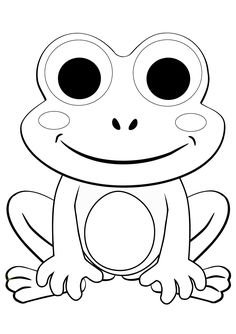 Frog Coloring Pages for Kids. 20 Frog Coloring Pages for Kids. Coloring Pages Free Printable Frog Coloring for Kids Frog Coloring Pages, Free Kids Coloring Pages, Coloring Sheets For Kids, Animal Coloring Pages, Coloring Pages To Print, Free Printable Coloring Pages, Coloring Books, Kindergarten Coloring Pages, Free Coloring