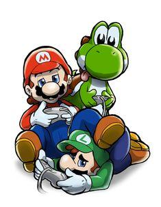 O pior é que é verdade. - - O pior é que é verdade…. Mario and Luigi O pior é que é verdade…. Super Mario Bros, Mundo Super Mario, Super Mario World, Super Mario Brothers, Super Smash Bros, Mario Kart, Mario E Luigi, Wallpaper Nintendo, Cartoon Art
